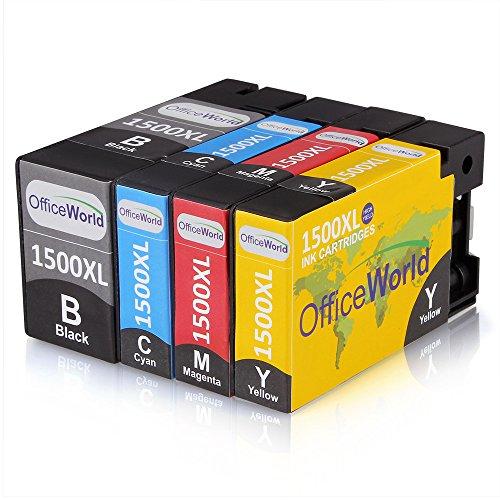 OfficeWorld Kompatible Patronen Ersatz für Canon PGI-1500XL Tintenpatronen Hohe Kapazität Kompatibel für Canon Maxify MB2350 MB2050 MB2300 MB2000 (4er-pack)