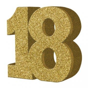 18th Geburtstag Party Dekoration (Tisch-Dekoration - Zahl 18 -)