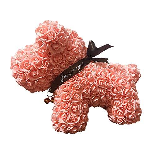 DRAULISCHE Blume Glücklicher Hund Rose Puppy PE Ewige Blume Puppe Puppy Puppe Valentinstag Geschenk Freundin Geschenk