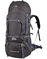 Oxking Outdoor Climbing Hiking Trekking Travel Backpack Waterproof Large 70L Rucksack(Can extension to 80L)