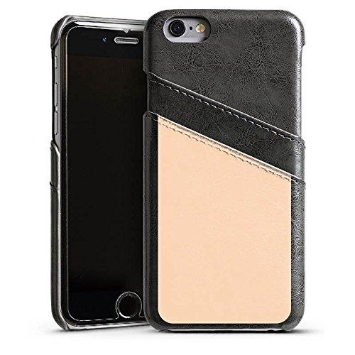 Apple iPhone 4 Housse Étui Silicone Coque Protection Pêche Couleur Sable Étui en cuir gris