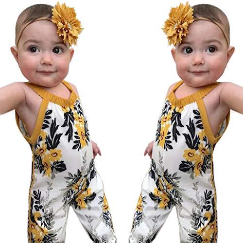 LHWY Kinder Mädchen Sommerkleid Mode Strand Boho Kostüm Floral Spielanzug Halter Overall Harem Lang Hosen Outfits Kleidung (Sexy Harem Mädchen Kostüm)