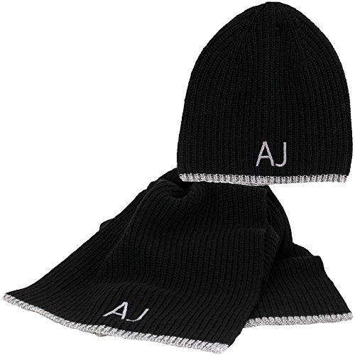 624e077ea1c ARMANI JEANS AJ NEU HERREN Mütze mit Schal blau schwarz gebraucht kaufen  Wird an jeden Ort