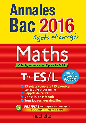 Annales 2016 Maths T ES L