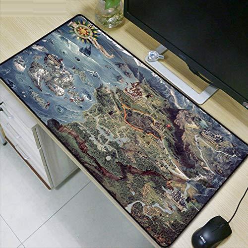 Karte Große Lock Edge Speed   Mat Gaming Mode Rechteckige Tastatur Mauspad, 80x30cm - Große Rechteckige Esstisch