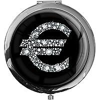"""metALUm - Extragroße Pillendose in runder Form""""Eurozeichen in Silber"""" preisvergleich bei billige-tabletten.eu"""
