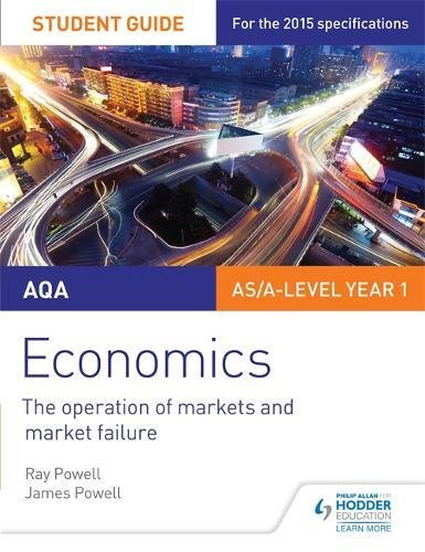 AQA Economics Student Guide 1: The operation of markets and market failure por Ray Powell