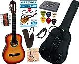 Pack Guitare Classique 1/4 Pour Enfant (4-7ans) Avec 6 Accessoires (sunburst)