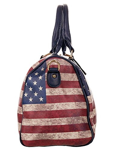 Damen Bowlingtasche, Bowling Bag - Stars and Stripes - USA Flagge, 33x22x18 cm (BxHxT), T5520 (Blue) Blue