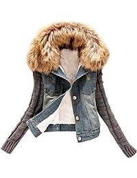 Corto Chaquetas Mujer Jacket De Mezclilla Abrigo Denim Jackets de Invierno