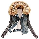 Donna Giacca Denim Cappotto Jacket Giacche Jeans Cappotti Come Immagine M