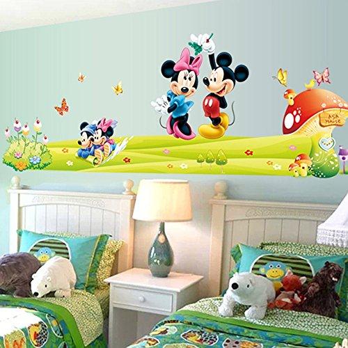 JUNMAONO Mickey Mouse Wandaufkleber/Abnehmbare Wandbild Aufkleber/Wandgemälde/Wand Poster/Wandbild...