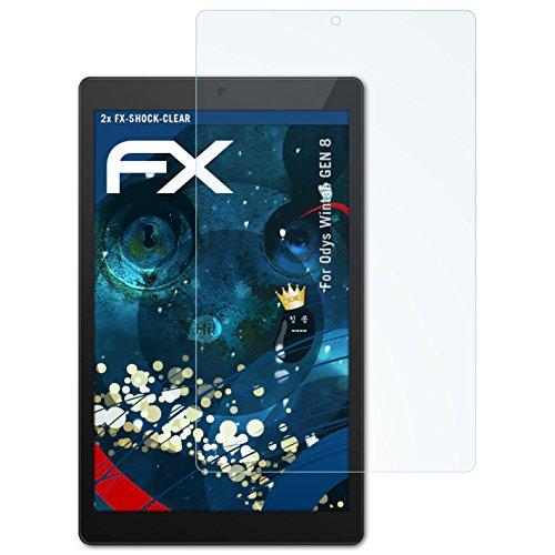 atFolix Schutzfolie kompatibel mit Odys Wintab GEN 8 Panzerfolie, ultraklare & stoßdämpfende FX Folie (2X)