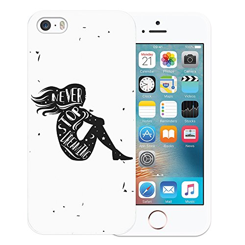 iPhone SE iPhone 5 5S Hülle, WoowCase Handyhülle Silikon für [ iPhone SE iPhone 5 5S ] Indischer Stil mit Elefanten-Muster Handytasche Handy Cover Case Schutzhülle Flexible TPU - Schwarz Housse Gel iPhone SE iPhone 5 5S Transparent D0379