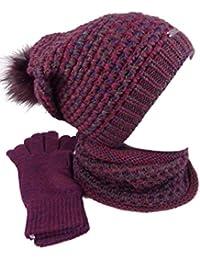 7be2b7a8268fe0 Suchergebnis auf Amazon.de für: Bordeaux - Mütze, Schal & Handschuh ...