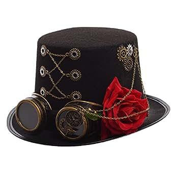 GRACEART Steampunk oben Hüte Mit Blume (Kopfumfang-58cm)