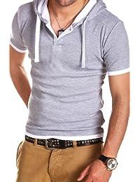 MT Styles 2in1 contrasté T-Shirt avec capuche BS-691