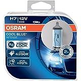 COOL BLUE INTENSE H7 de OSRAM, lámpara para faros halógena, 64210CBI-HCB, automóvil de 12V, estuche doble (2unidades)