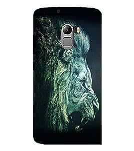 PrintDhaba Lion Roar D-1154 Back Case Cover for LENOVO K4 NOTE A7010 (Multi-Coloured)