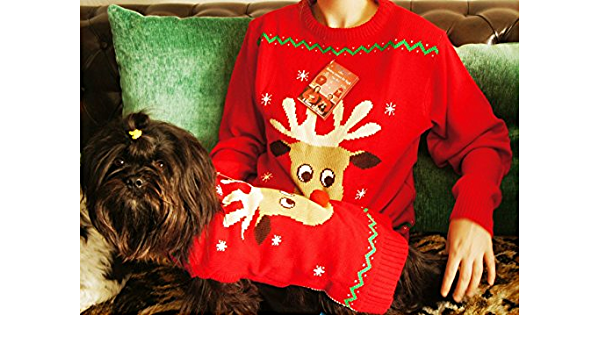 Mittlere Hunde PetPhindU Hund Partei Pullover Outfits Weihnachtsschneeflo Kleidung Zweibeiniges Weihnachten Sweatshirt Kost/üm Overall Winter f/ür Kleine