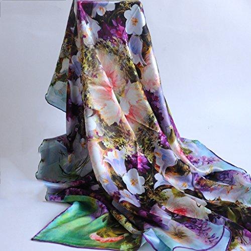 serviette de plage Echarpes en soie pour femmes en soie Écharpe solaire Écharpe sauvage à double usage ( Couleur : #11 ) #12