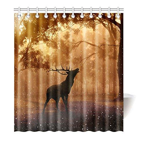 Violetpos Duschvorhang Baum Hirsch Camo Hochwertige Qualität Badezimmer 180 x 180 cm (Dunklen Stein Camo)