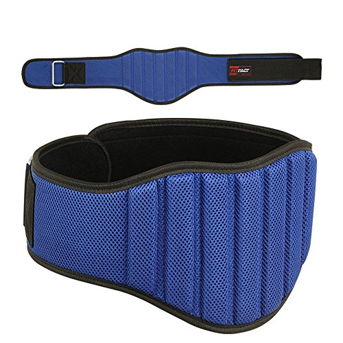 FITPACT-weight-lifting-belt-8-inch-gym-workout-training-Crossfit-exercise-fitness-powerlifting-Blue-L