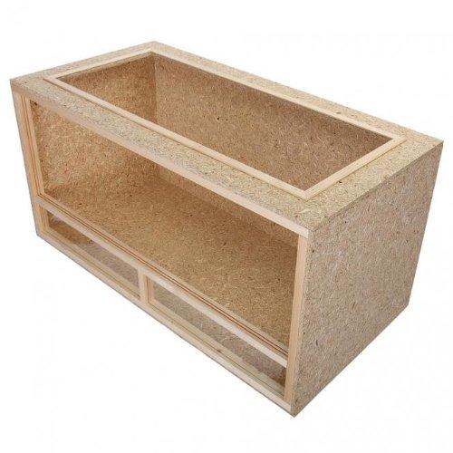 Terrario per tartarughe in legno e truciolato - 100x60x60cm - sistema di areazione superiore