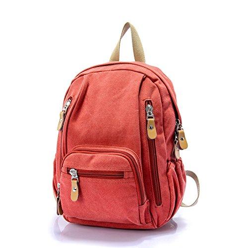 Mefly Die Neue Koreanische Canvas Tasche Rucksack Bag Student Tasche Damen Mode Tangerine