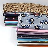 MAGAM-Stoffe Großes Stoffpaket | Stoffreste aus Jersey Bündchen Baumwolle Nicky Sweat Fleece Kinder-Stoffe (Paket 700/4,2kg)