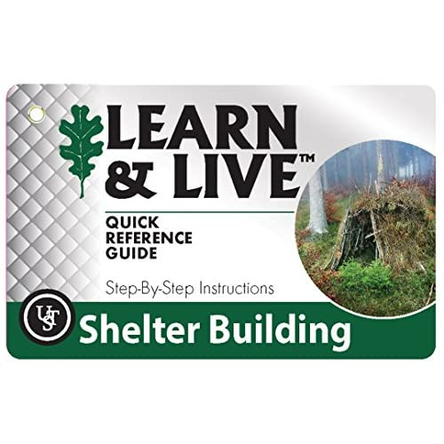 51duxmmK40L. SS500  - UST Unisex's Survival Cards Learn & Live Shelter Building, One size