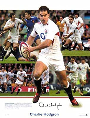 Charlie Hodgson England Rugby Signed Autograph Print by Sport and Star Autographs