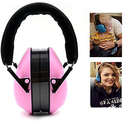 Protectores auditivos - Orejeras diadema ajustable para niños y adultos