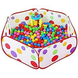 Westeng Piscina de Bolas Polka Dot Hexagonales Juguetes del Bebé para los Niños plegado fácil Portátil(Sin Bolas)