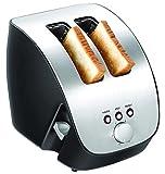 Sinbo 2 Scheiben Toastautomat Brotröster Edelstahl Design Doppelschlitz Toaster Aufwärmen, Auftauen Stop Taste 1000 Watt