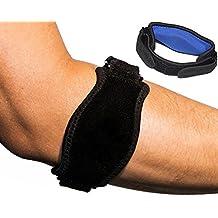 Aptoco 2confezioni in neoprene Tutore per gomito del tennista con cuscinetto di compressione per alleviare il dolore, Tendiniti, Tennis e Golf Gomito Taglia unica