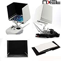 "NXET® DJI Transmitter Remote Controller Sun Hood, 7.9"" Tablet FPV Monitor Sunshade for DJI Phantom 2 3 4 Inspire 1 Quick Release iPad Mini Holder Clip Mount"