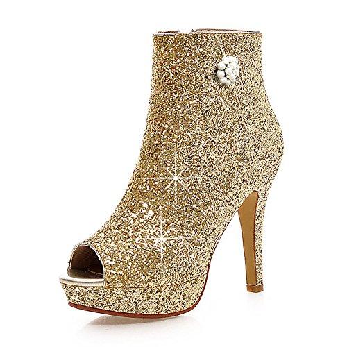 HSXZ Scarpe donna scintillanti Glitter Paillette molla sintetico rientrano la moda Stivali Stivali Stiletto Heel Peep toe stivaletti/Stivaletti perla Gold