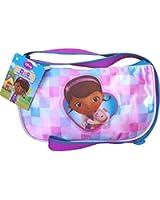 Girls Disney Doc McStuffins Purple Shoulder Travel Bag with Adjustable Strap