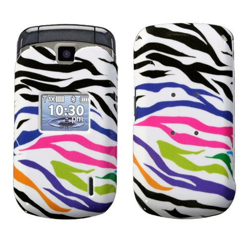 Hartschalenhülle für LG VX5600 Accolade Rainbow Zebra Skin Verizon (Bitte überprüfen Sie Ihr Gerätemodell, um die richtige Version zu bestellen) Verizon Zebra