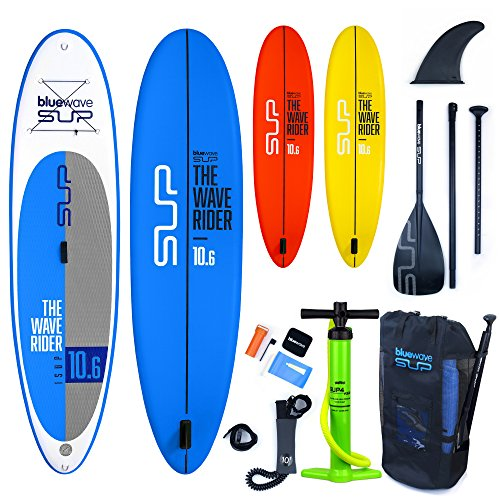 Bluewave Inflatable SUP Stand Up Paddle Board - Wave Rider 10 6 iSUP (Blue b95c7bacf313