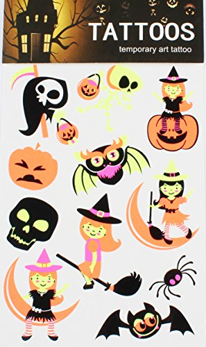 Halloween Autocollant de Tatouage temporaire pour Art Corporel Halloween Autocollant Tatouage