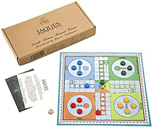 """Jaques of London Ludo - Ludo Board Game Set 12"""" - Luxury Wooden Pieces"""