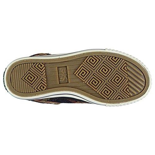 British Knights Enfants Dee Filles Chaussures Montantes Baskets Plates Plimsoles Navy/Camo
