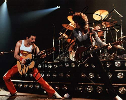 cd1b10fbc1 THEPRINTSHOP Photo dédicacée par Freddie Mercy Brian May Queen Édition  limitée + autographe imprimé CERT