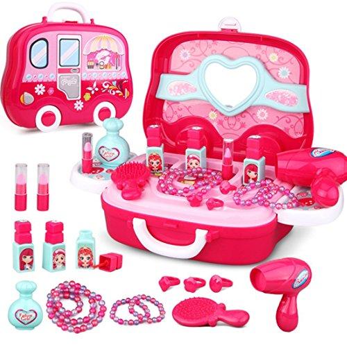 LVPY Rollenspiel Spielzeug, Kinder Schminkset Mädchen Koffer Pretend Makeup kit Geburtstagsgeschenk...
