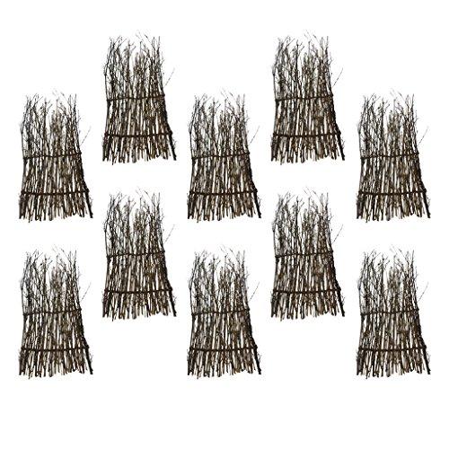 D DOLITY 10 Pz Bambù Erba Naturali Divisario Bordo Privacy Riparo Vento Recinzioni Giardinaggio - 30x11cm