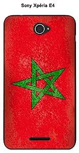 Coque Drapeau Maroc vintage pour Sony Xperia E4