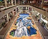 Xcmb High - End Air Ästhetische Dekorative Malerei Wasserdichte Tapete Flugzeug Im Freien Schwebende 3D Bodenbelag-350Cmx245Cm