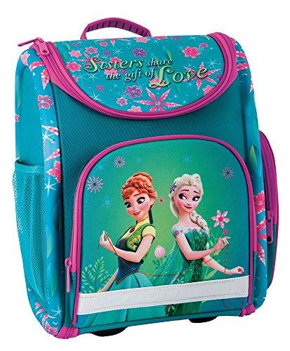 Disney Eiskönigin Frozen Anna ELSA Schulranzen Mädchen 1 Klasse Tornister Schulrucksack Schultasche Set 2 TLG. für Grundschule super leicht ergonomisch und anatomisch/inkl. Turnbeutel und Sticker